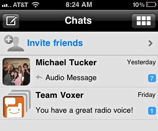 Voxer-Chats