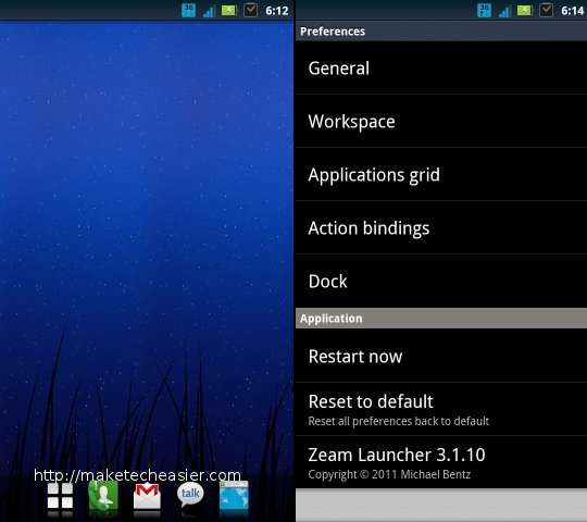 android launcher-zeam