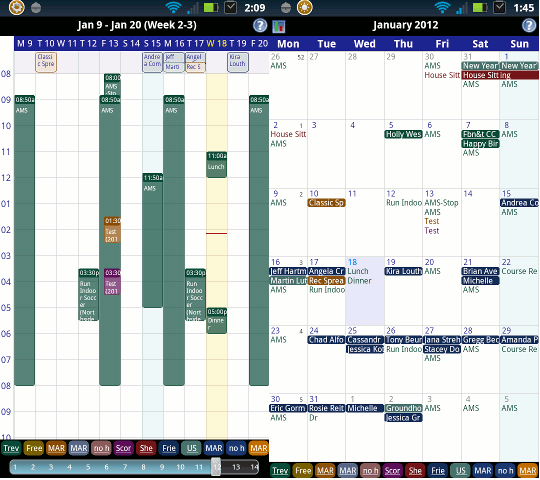 android productivity - business calendar