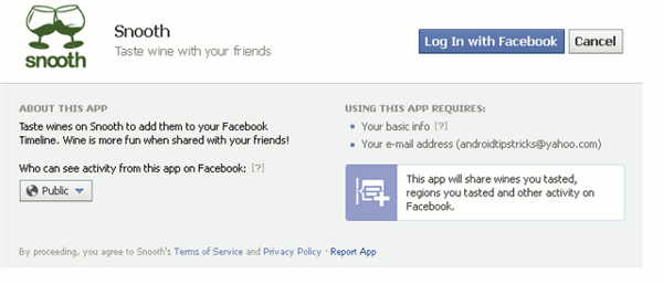 facebook timeline apps - grant access