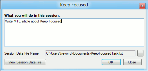 keep focused-enter task at hand