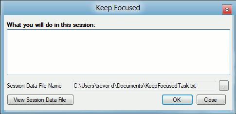 keep focused-main window