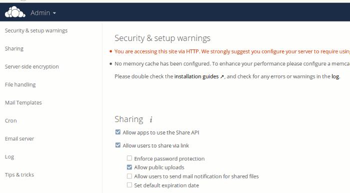 owncloud-server-settings