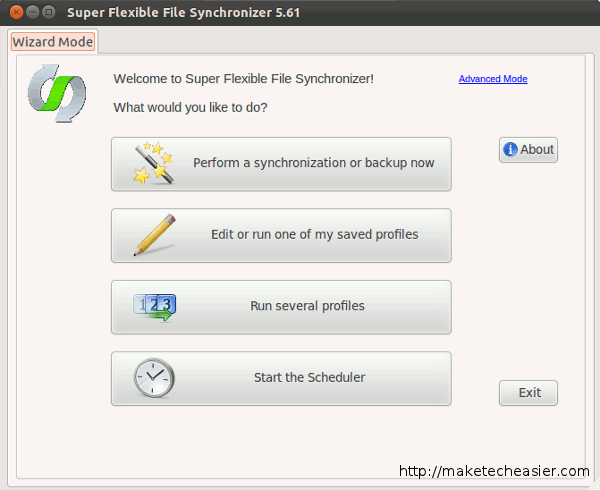 super flexible file synchronizer first run