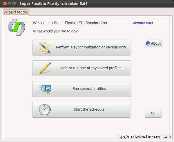 super flexible file synchronizer first run