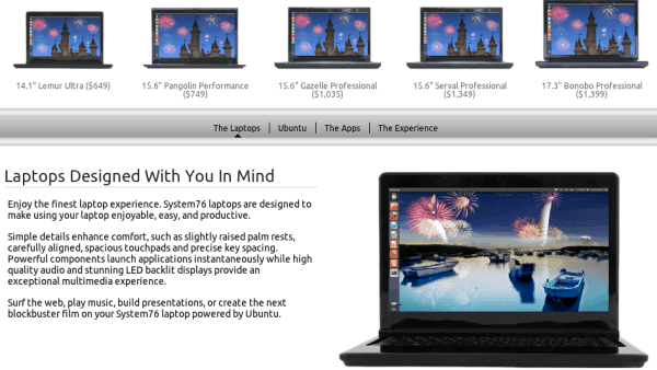 System76 laptops