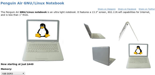 ThinkPenguin laptop