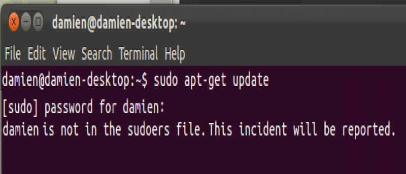 is not in the sudoers file this incident will be reported mac os x