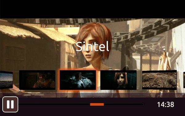 Ubuntu TV skipping through Sintel