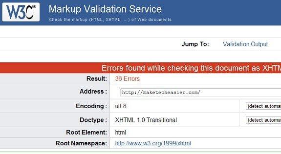 W3C Markup Validation