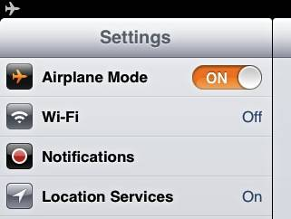 airplane mode what it does