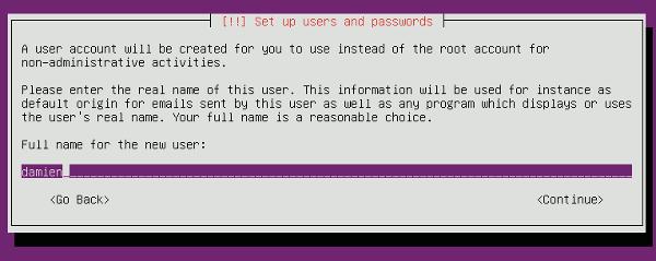minimal-ubuntu-install-set-username