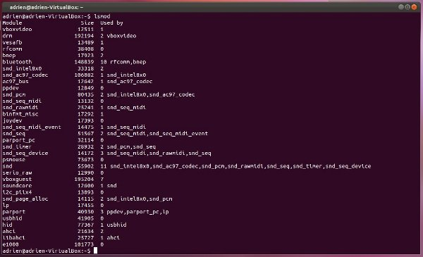 system_command_line-lsmod