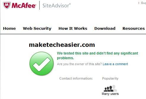 McAfee-Site-Advisor