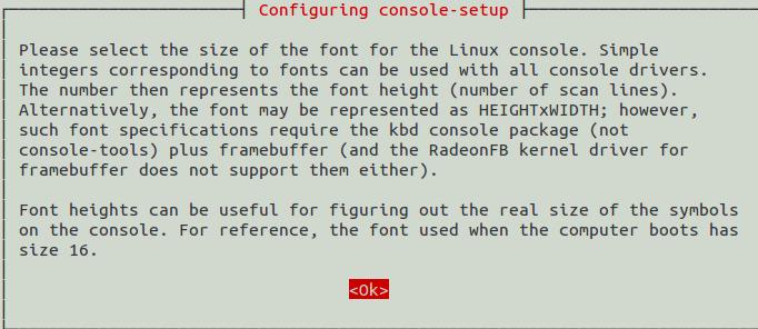 Sudo Dpkg-Reconfigure Console-Setup