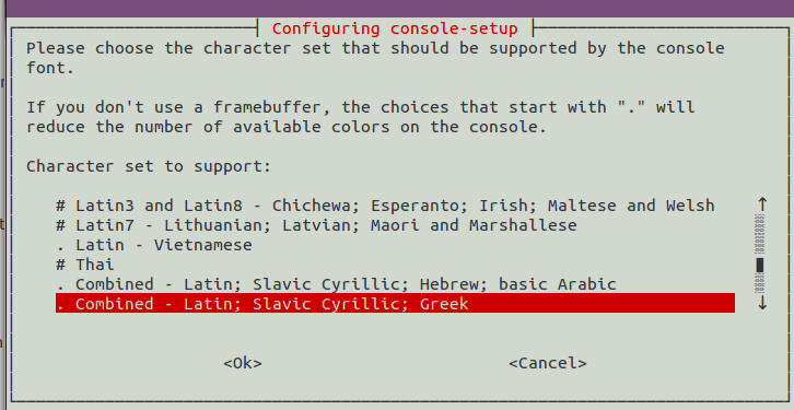 consolesetup-set-character-set