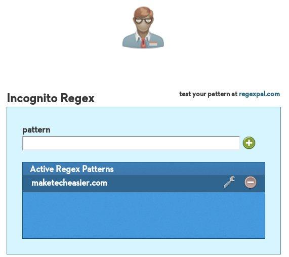 chrome-incognito-regex