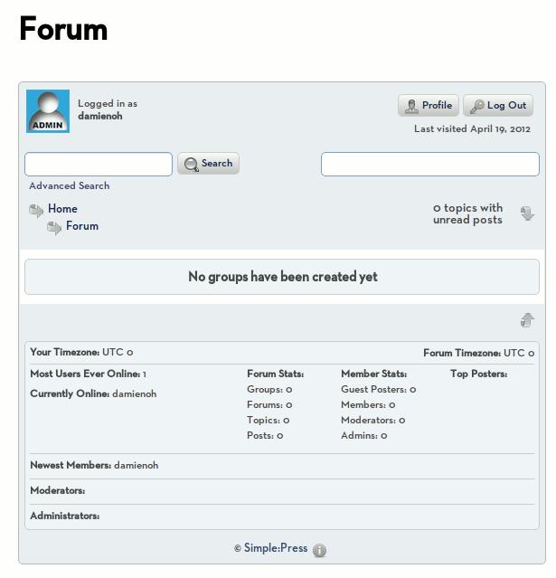 simplepress-forum-page