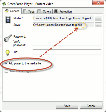 Creating-password-protected-executable-video