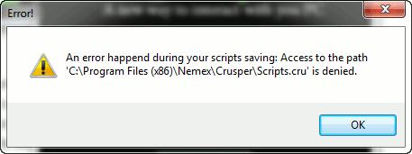 Crusper-error