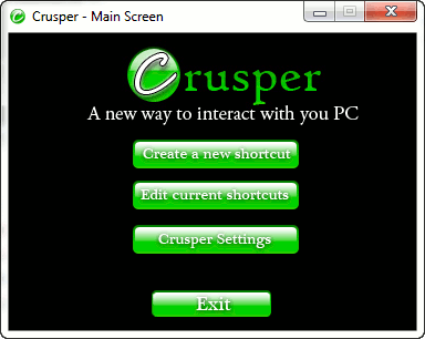 Crusper-main-screen
