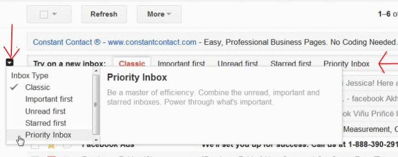 Gmail-inbox-options