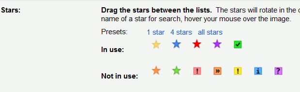 Gmail-stars