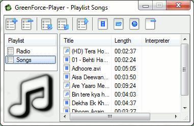 GreenForce Player playlist