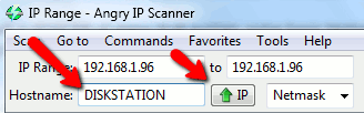 angry-ip-scanner enter hostname