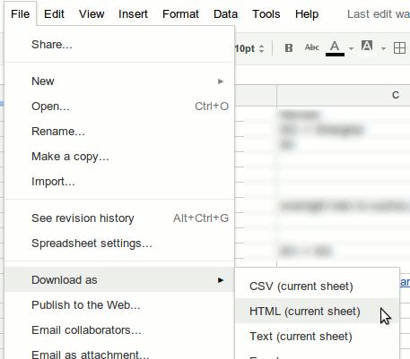 spreadsheet2html-google-docs