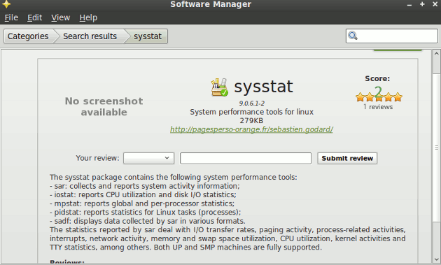 sysstat-mint-software-manager