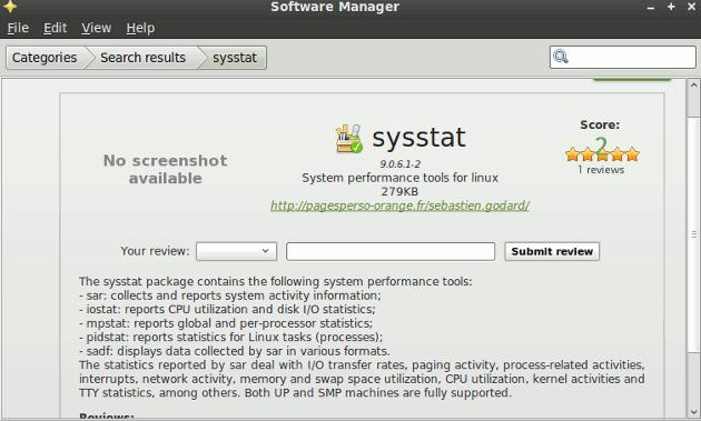 sysstat-mint-software-manager