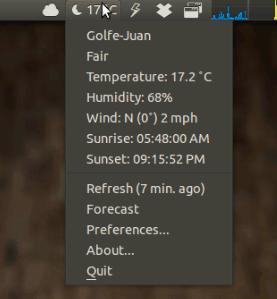 Ubuntu-Applet-Weather