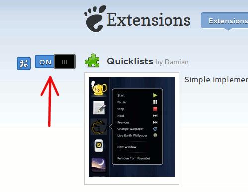 quicklist-install-extension