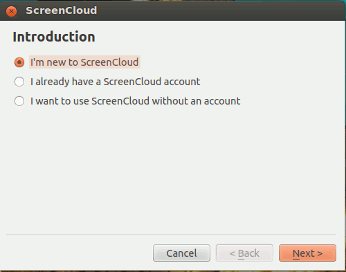 screencloud-setup-account