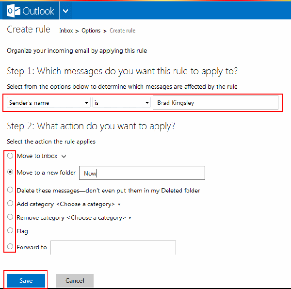 Outlook-create-rule