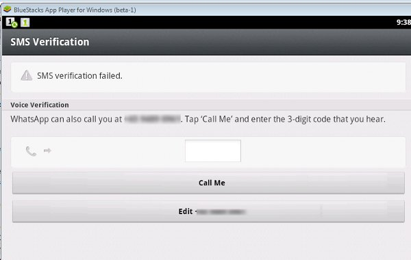 bluestacks-whatsapp-call-verification