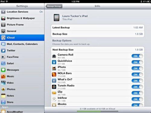 iCloud-iPad