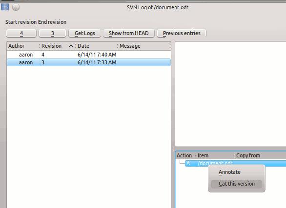 kdesvn-previous versions