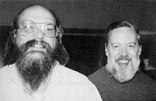 Ken Thompson and Dennis Ritchie, Unix creators