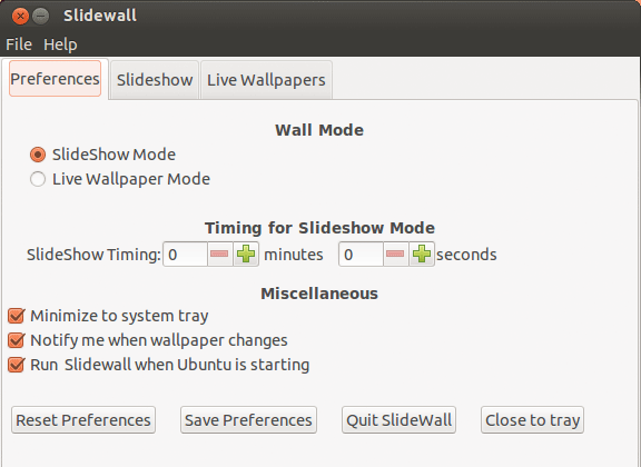 slidewall-preferences