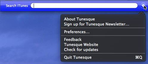 Where to find preferences in Tunesque.