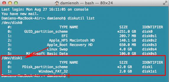 ubuntu-mac-usb-disk-number