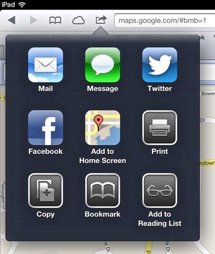 MapsApp-Homescreen