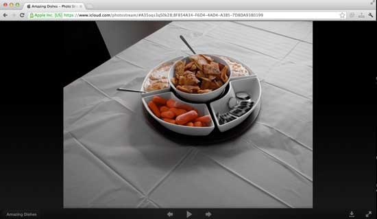 Photo Stream on Standard Browser