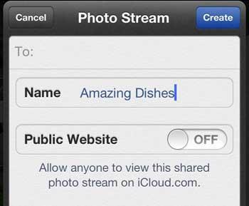 Naming Photo Stream Album
