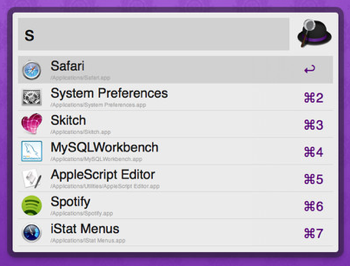 Alfred - Keyboard-driven productivity application for launching apps and searching on your Mac.