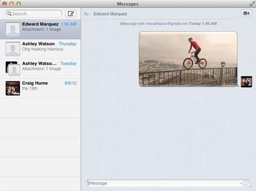 mac osx iMessage