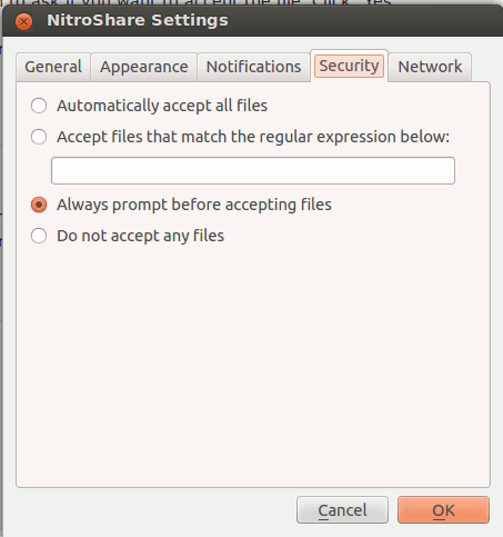 nitroshare-settings-security