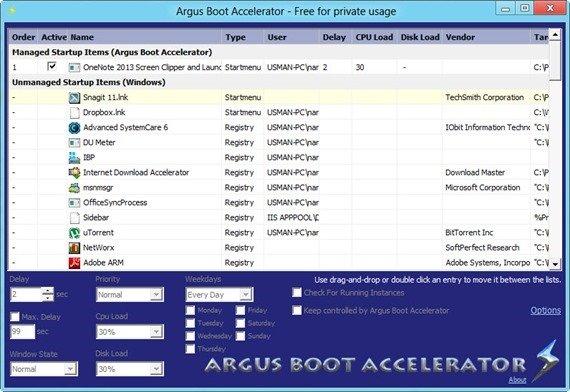 Argus Boot Accelerator